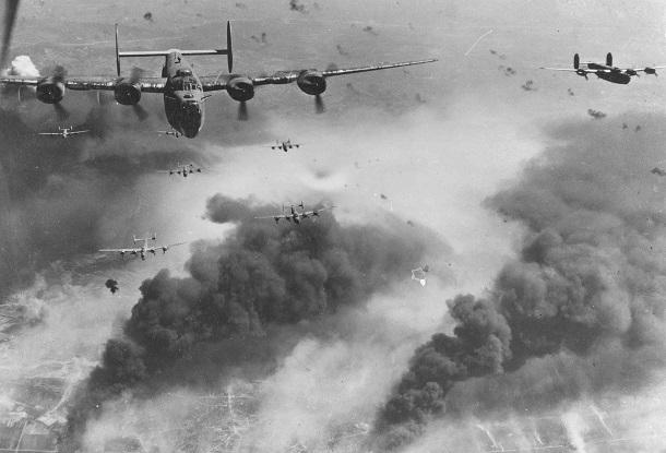 Авианалет бомбардировщиков Б-24