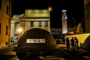 Tirana Night , Bunkart 2 Museum and Clock Tower
