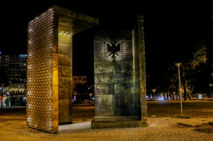 Tirana Night, Independence Monument