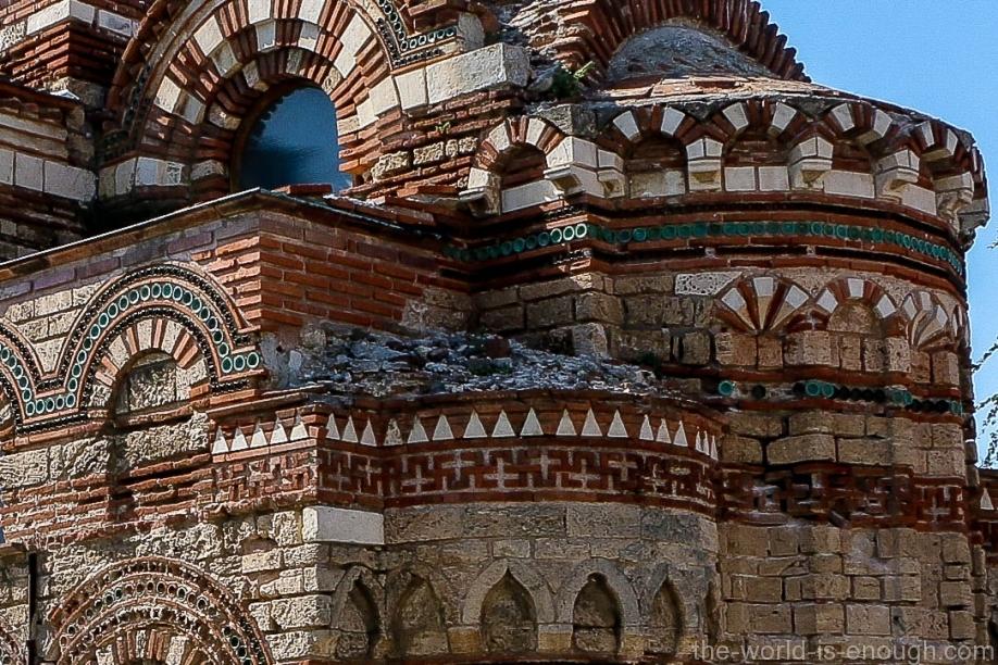 Свастика базилики Христос Пантакратор, Несебр