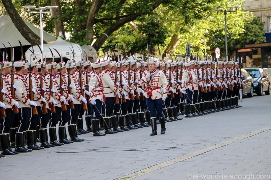 София. Почетный караул Национальной гвардейской части
