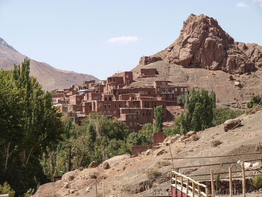 Иран, деревня Абьяни, Abyaneh village