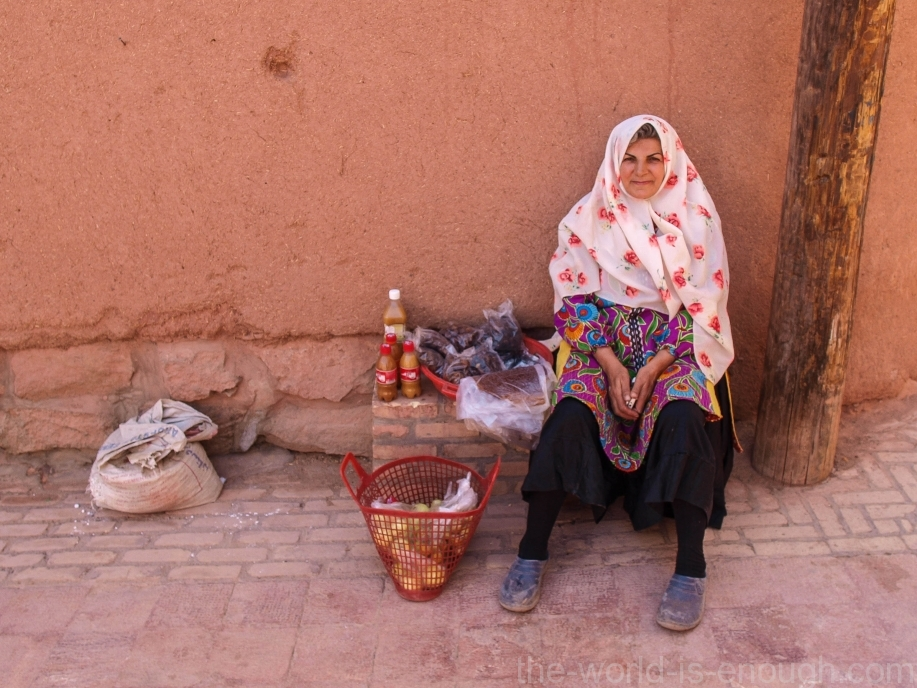 Иран, деревня Абьяни, Abyaneh woman