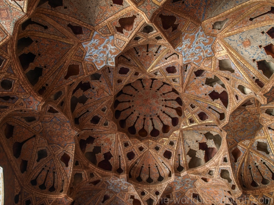 Стены Музыкального зала дворца Алий-Гапу, Исфахан