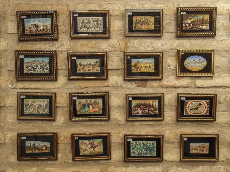Миниатюры в галерее на площади Имама, Исфахан