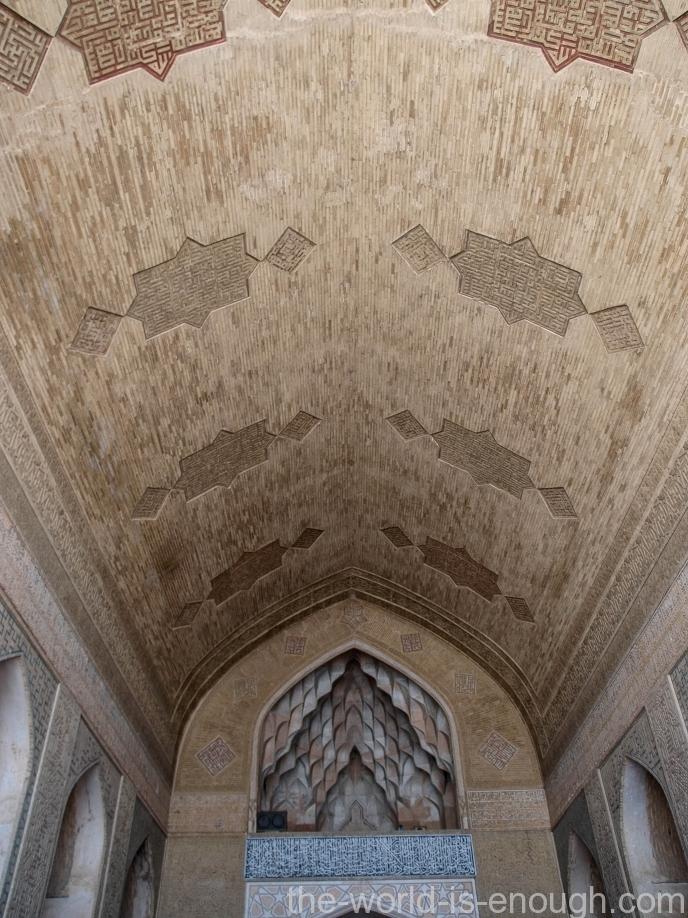 Потолок айвана Дервиш (Soffeh-е Dravish) пятничной мечети Атиг Исфахана