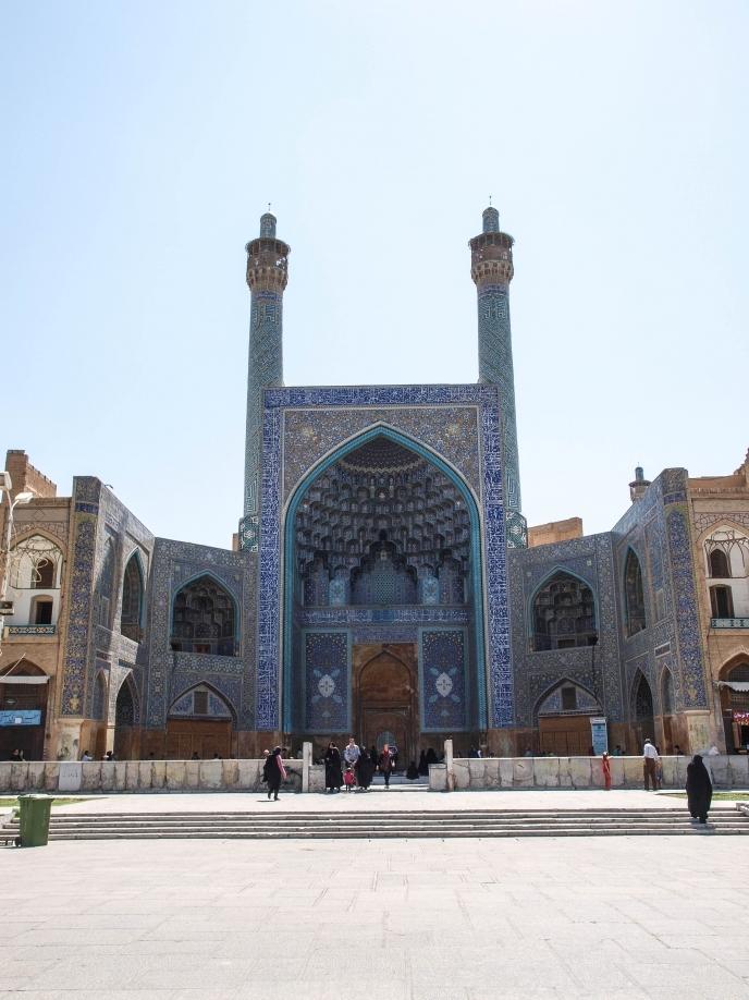 Входной портал в мечеть Имама