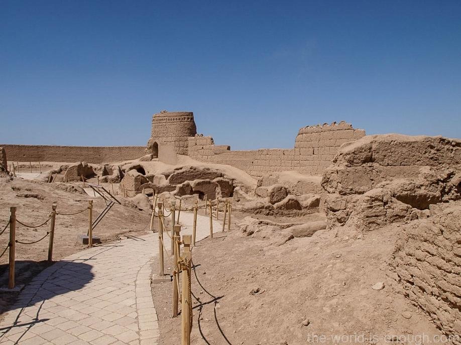 Внутри крепости Нарин, Мейбод, Иран