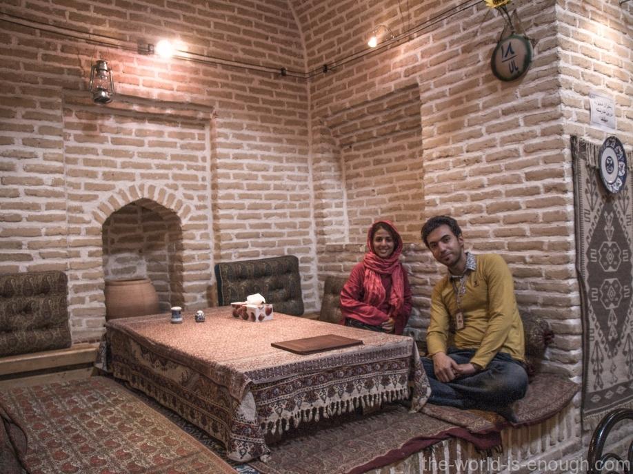 Ресторан караван-сарая Шаха Аббаса в Мейбоде