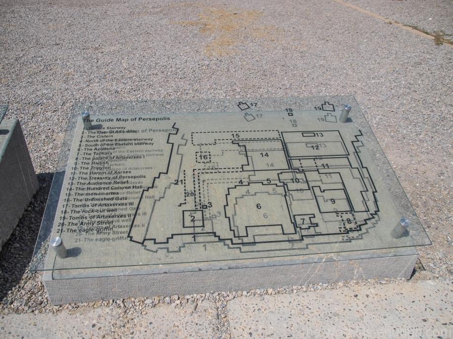 Схема руин Персеполя