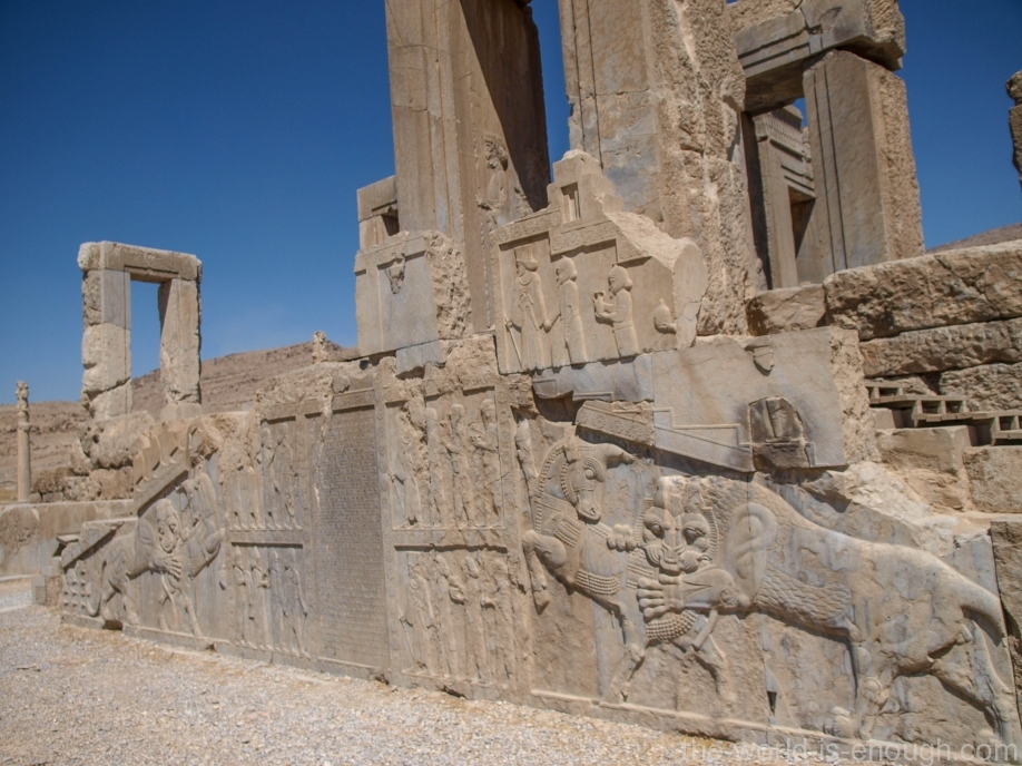 Персеполь, Дворец Дария I, Тачара, Зимний дворец Персеполя
