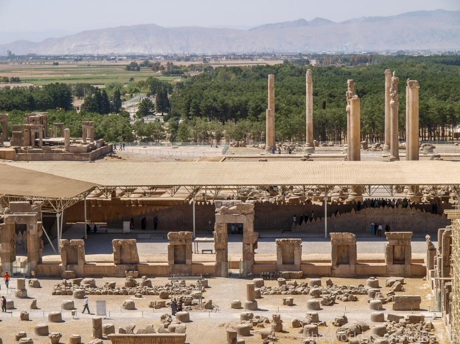 Персеполь, Стоколонный зал, Ападана и Тачара