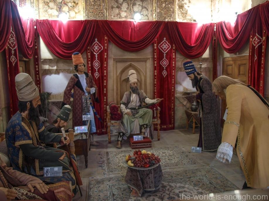 Аудиенция у Керим-Хана, крепость Керим-Хана, Шираз