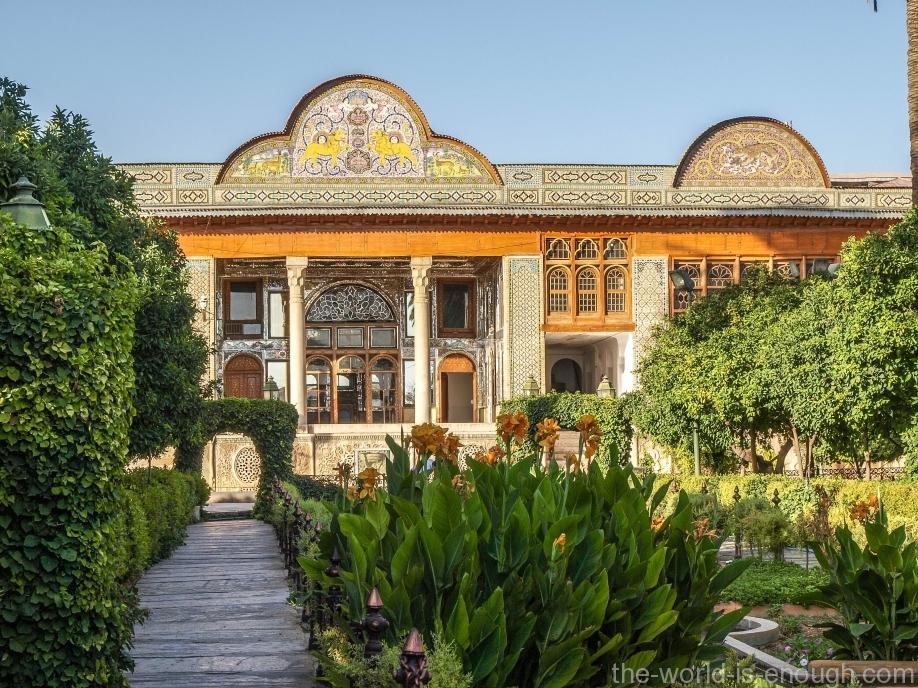 Вид на буруни дома Кавамов, Шираз