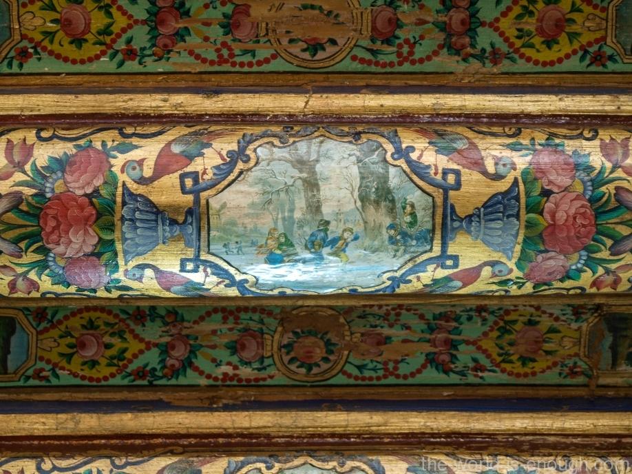 Элемент росписи потолка гостевой комнаты дома Кавамов, Шираз