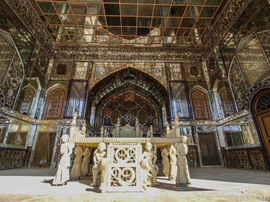Тегеран, дворец Голестан, Throne in Golestan Palace