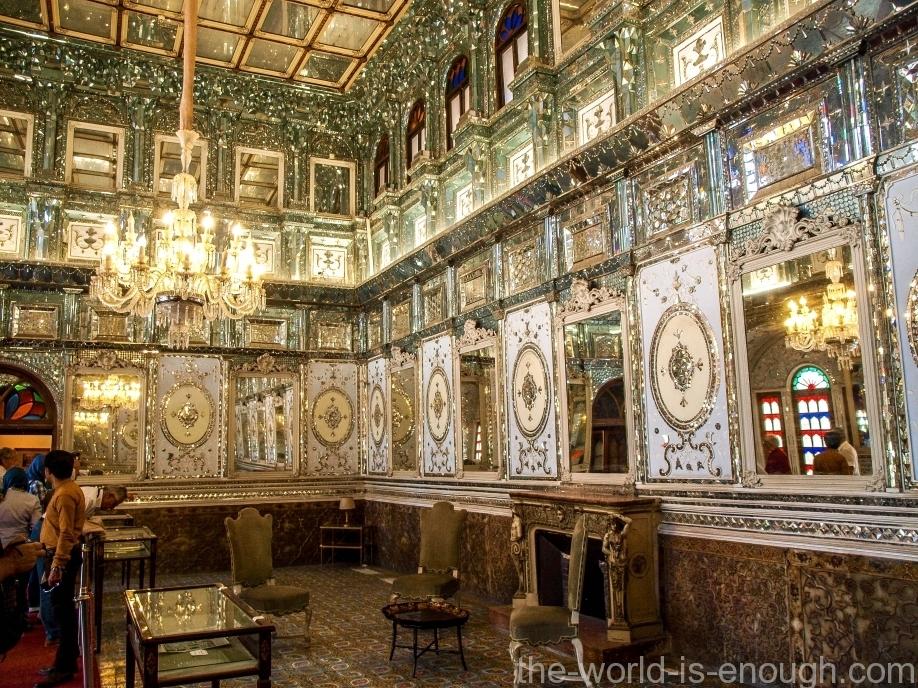 Тегеран, дворец Голестан, Дом Солнца, The hall of Mirrrors in Edifice of the Sun Golestan Palace