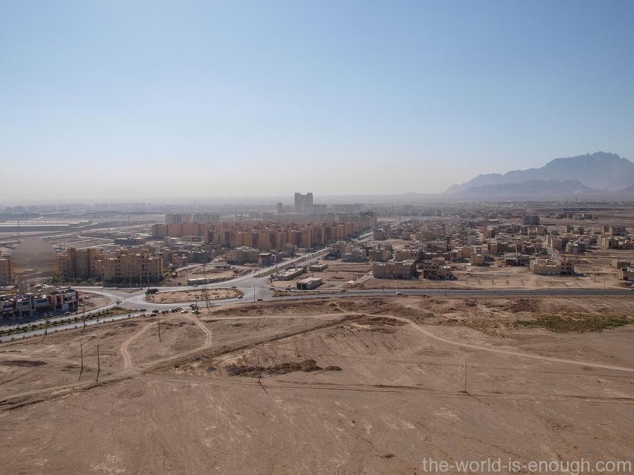 Иран, Йезд, Башня молчания, вид на Йезд