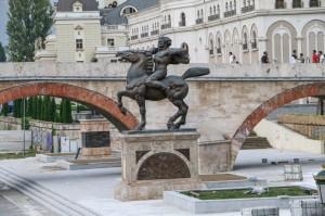 Skopje, Karposh Monument