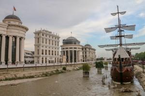 Skopje, Vardar river embankment