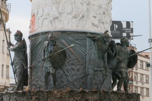 Skopje Warrior on a Horse Statue