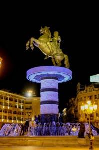Ночной Скопье - Skopje Night