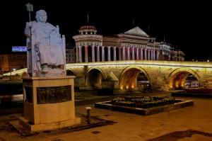 Skopje Stone Bridge and Justinian Monument