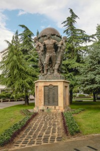 Skopje Park Woman - Warrior - Monument of the Defenders of Macedonia