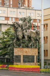 Skopje Park of The Woman Freedom-fighter, Nikola Karev Monument