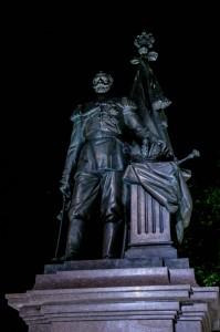 Belgrade Night, Russian Tsar Nikolay II Monument