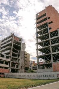 Belgrade General Staff ruins