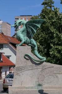 Ljubljana  Ljubljanica River The Dragon Bridge