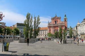 Ljubljana Triple Bridge, Preseren Square and Franciscan Monastery