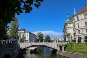Ljubljana  Ljubljanica River, Triple Bridge