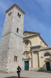Leaning bell-tower at the Chirch of the Assumption of the Blessed Virgin Mary Rijeka Croatia