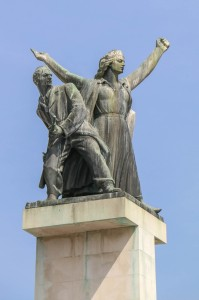 The monument to the liberation of Rijeka at May 3, 1945