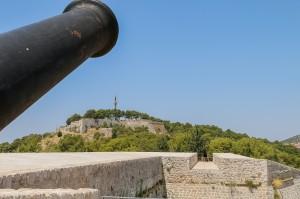 Šibenik, Barone Fortress  - view at St. John's Fortress