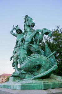Zagreb Republic of Croatia Square, St. George Killing the Dragon