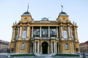 Zagreb Republic of Croatia Square, Croatian National Theatre (1895)