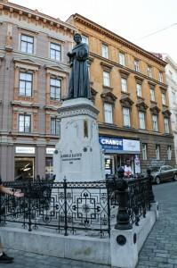 Zagreb Night, Andrija Kačić Miošić Monument