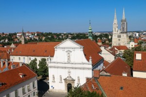 Zagreb St. Ekaterina Church and Zagreb Cathedral