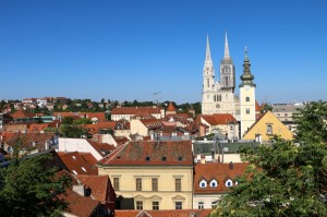 Zagreb - St Mary at Dolac and Cathedral of the Assumption