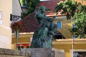Zagreb Fisherman and the Snake Statue