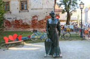 Zagreb Statue of Marija Jurić Zagorka