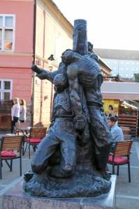 Zagreb, Dolac Market,   Statue of Petrica Kerempuh
