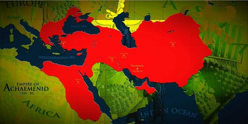 Империя Ахеменидов на пике могущества (520 г. до н.э.)