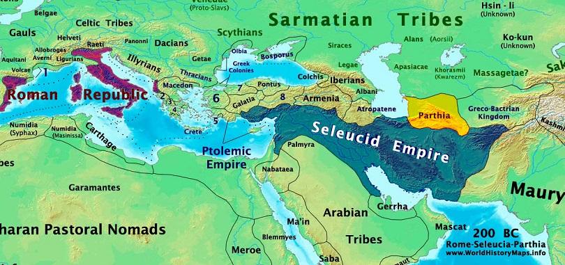 Римляне, Селевкиды и Парфяне