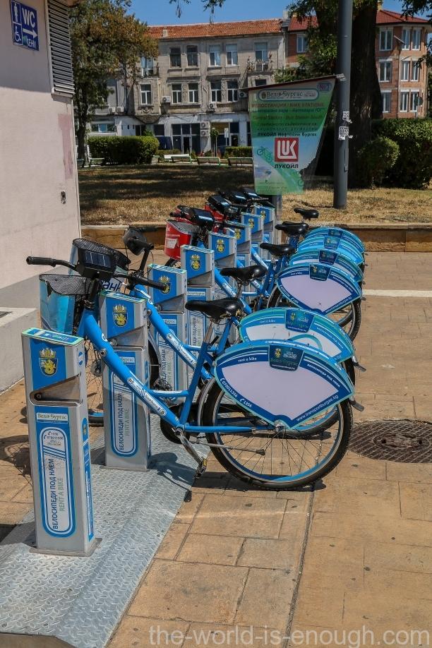 Бургас, прокат велосипедов