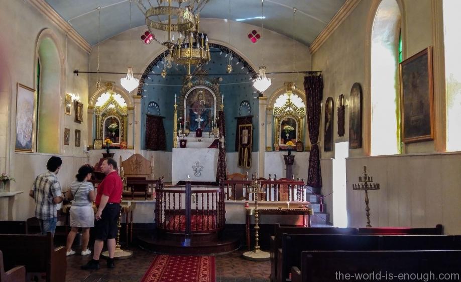 Интерьер армянской Церкви Святого Креста