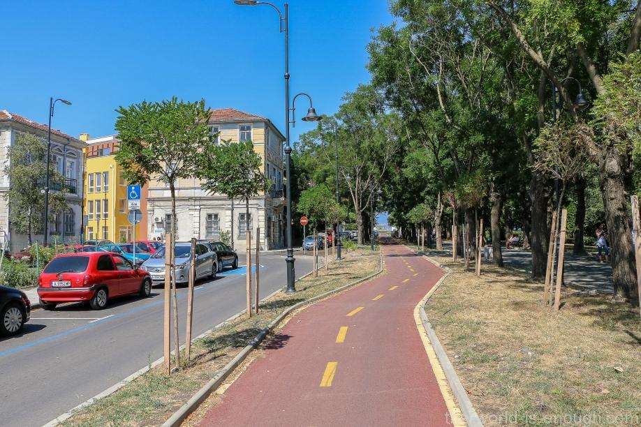 Велодорожка в Бургасе